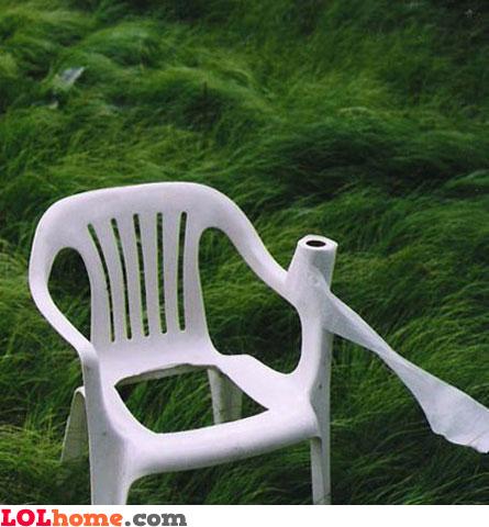 Garden toilet seat