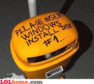 insert windows install disk