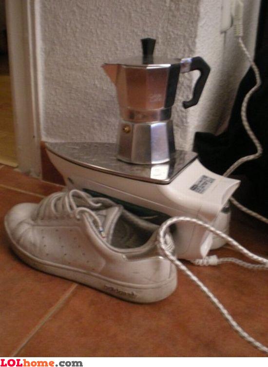Heating your coffee