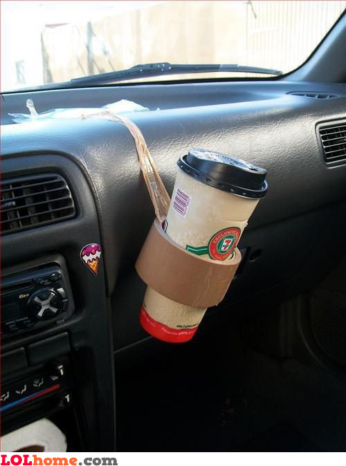 Duct tape glass holder