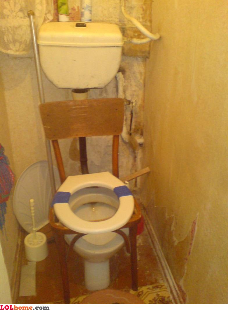 Improvised toilet seat