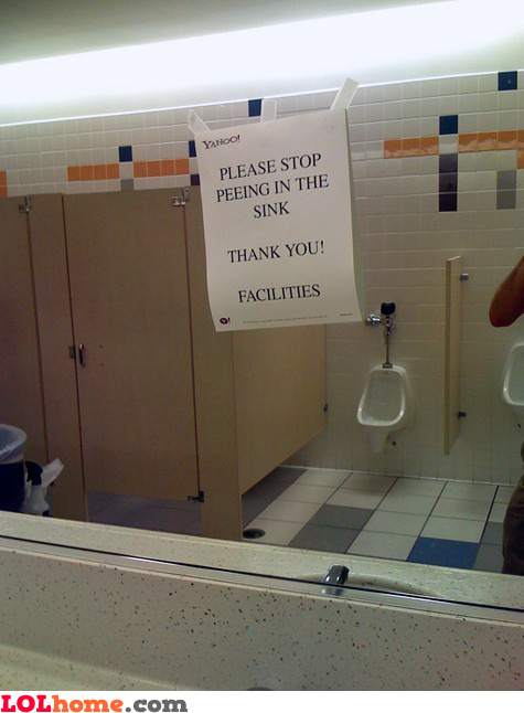Stop peeing in the sink
