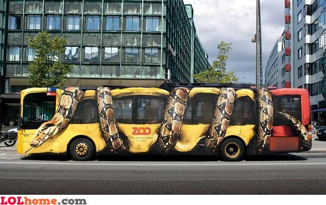 Crushed bus