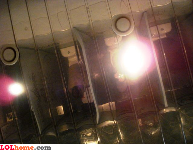 Bathroom ceiling mirrors