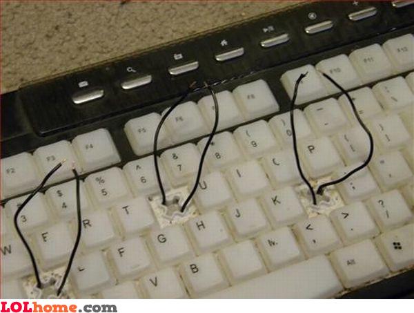 Repaired keyboard