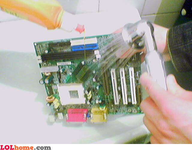Washing the motherboard