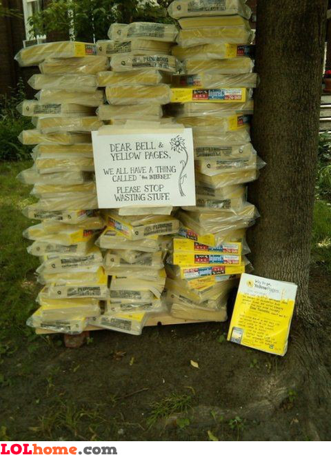 Yellow pages protest