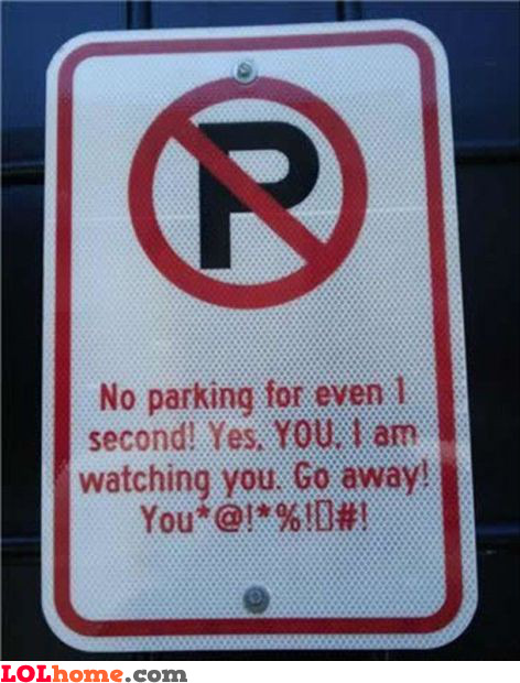 No parking for even 1 second!