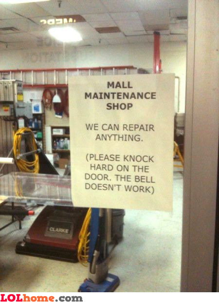 Mall maintenance shop