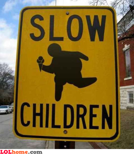 Slow and fat children