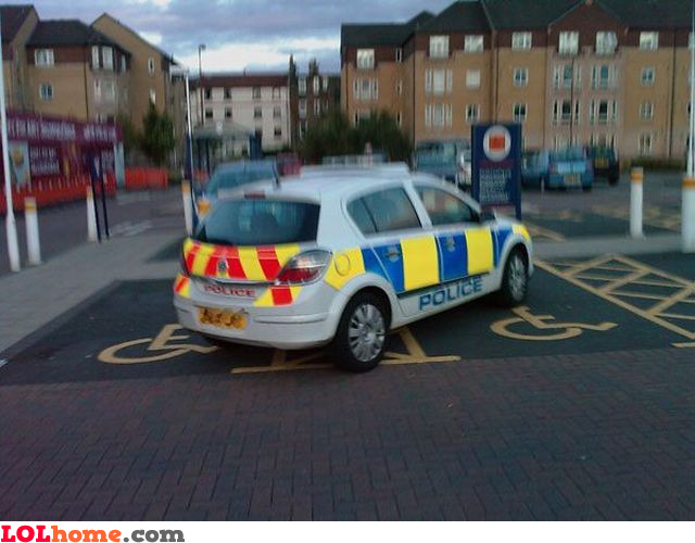 Handicapped police