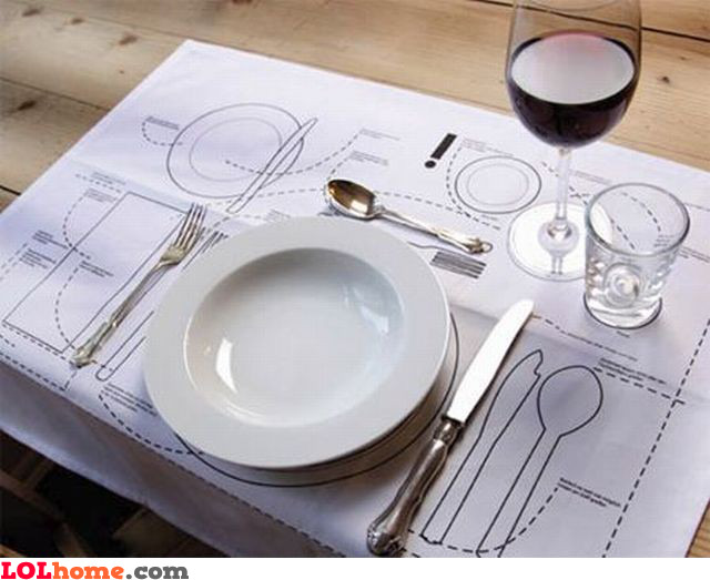 Dinner table instructions