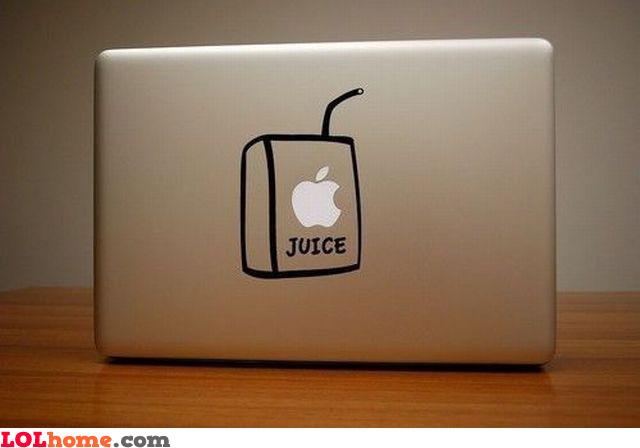 The apple juice