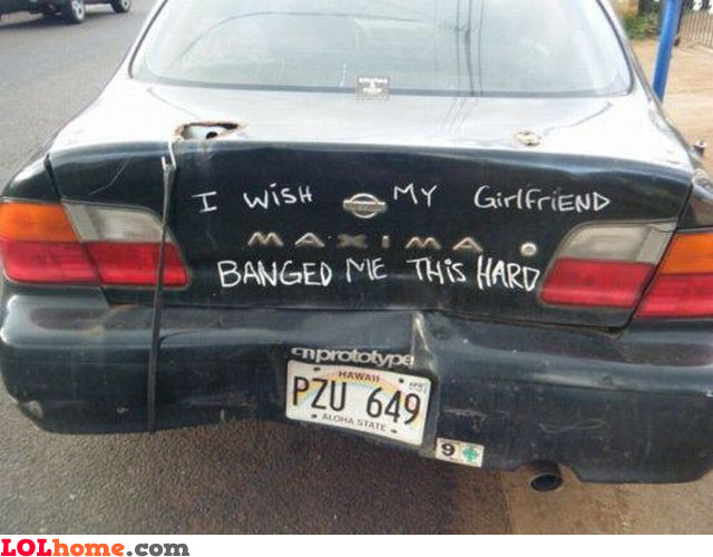 I wish my girlfriend banged me this hard