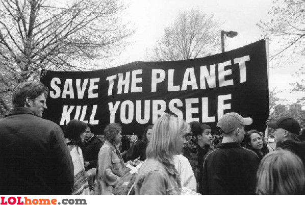 save the planet - kill yourself