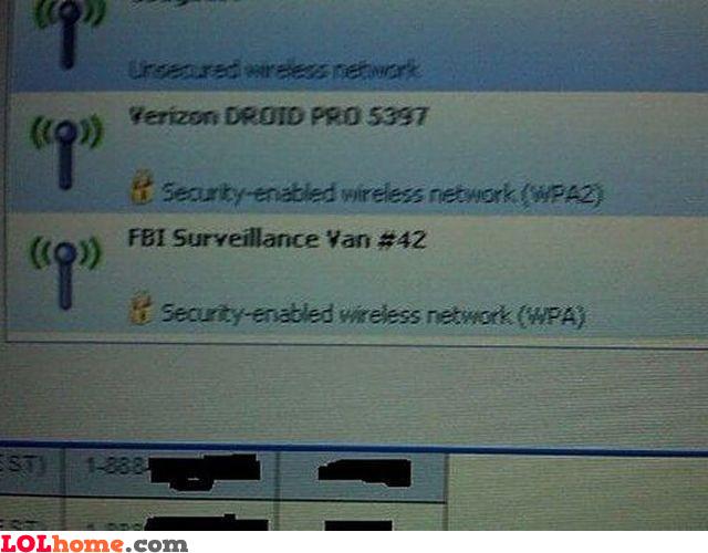 FBI Surveillance Van
