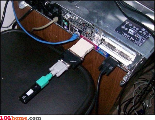 Connect an USB stick