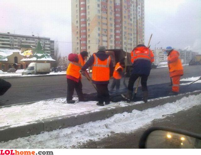 How not to pour asphalt