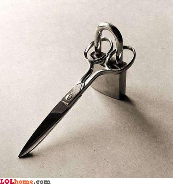 Locked scissors