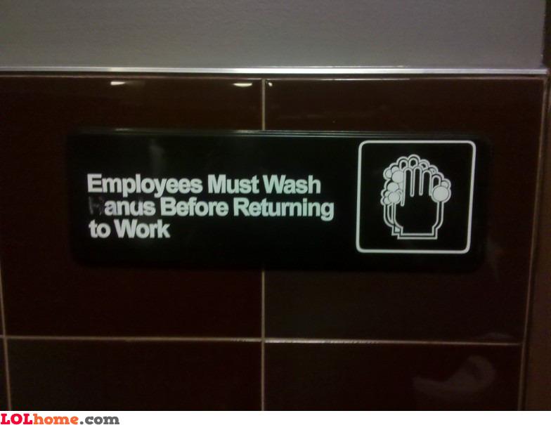 Wash hands?