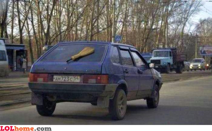 Fixed windscreen wiper
