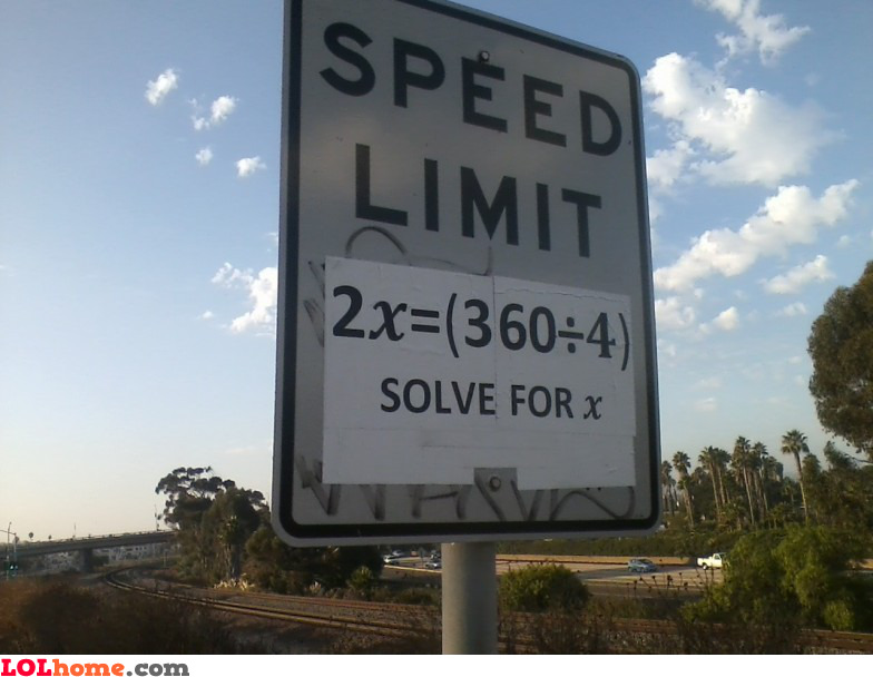 What's the speed limit?