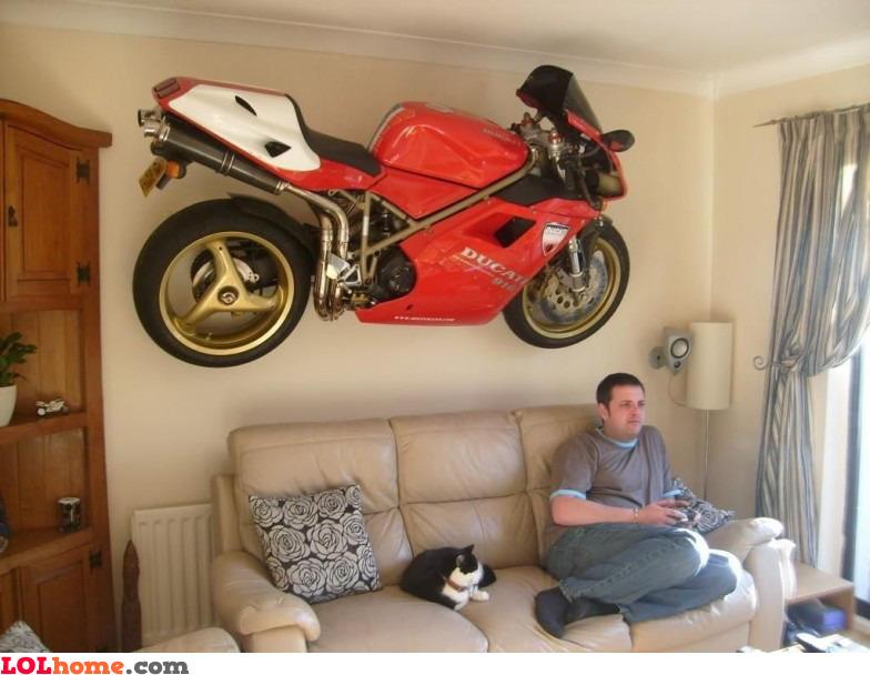 Hope my bike doesn't fall on me