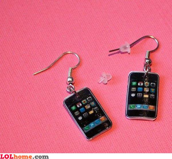 iPhone earrings