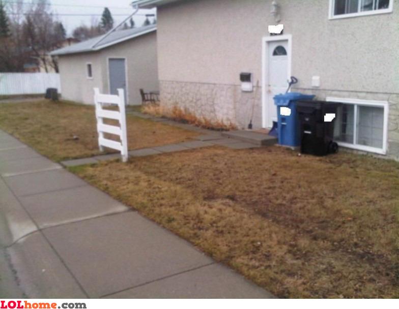 No fence