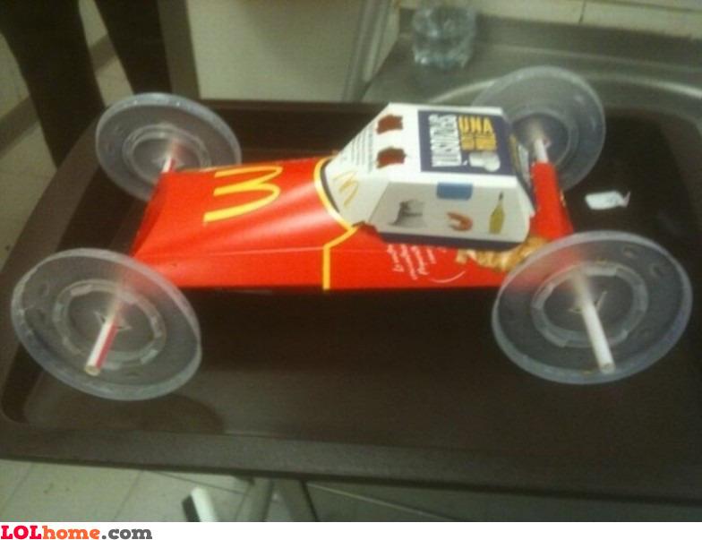 McDonald's race car