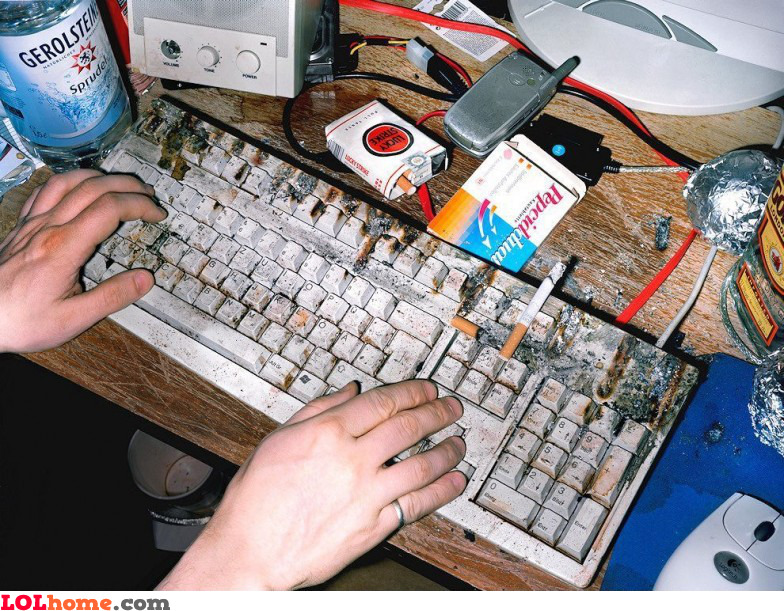 Better clean my keyboard