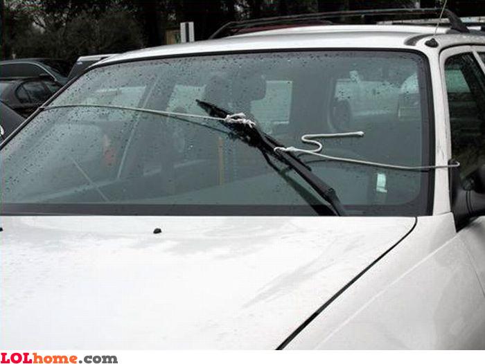 Manual windscreen wiper