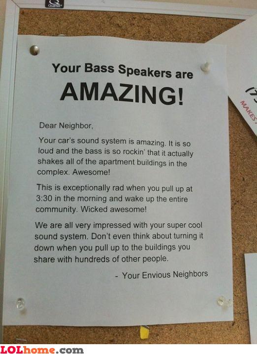 Amazing bass speakers