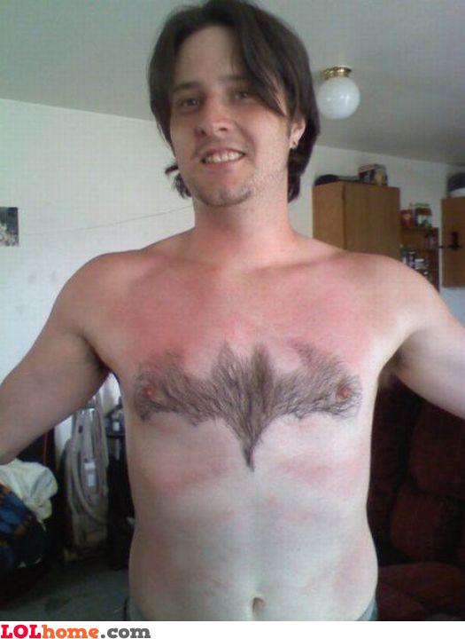 Batman chest hair