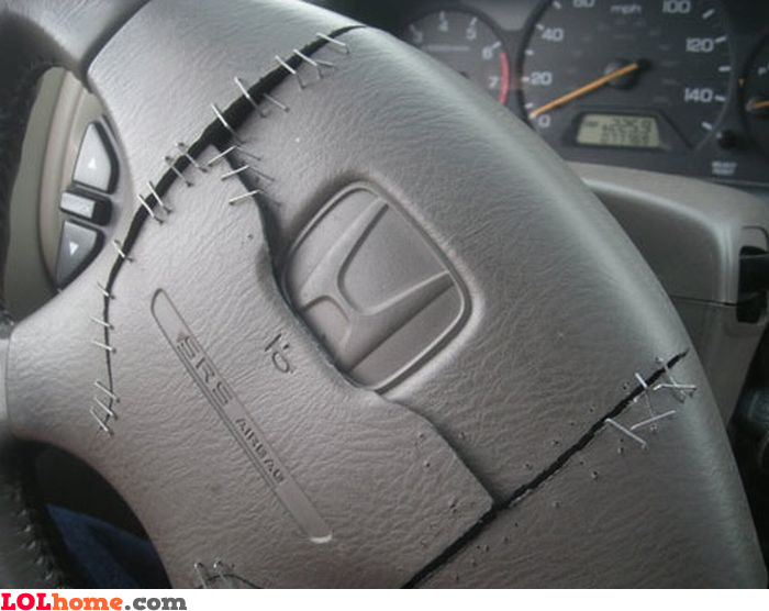 Blown airbag fixed
