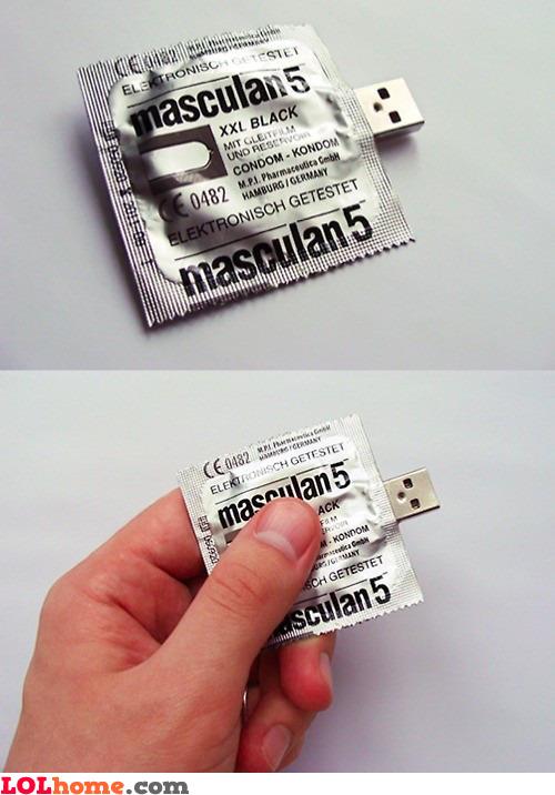 Condom flash