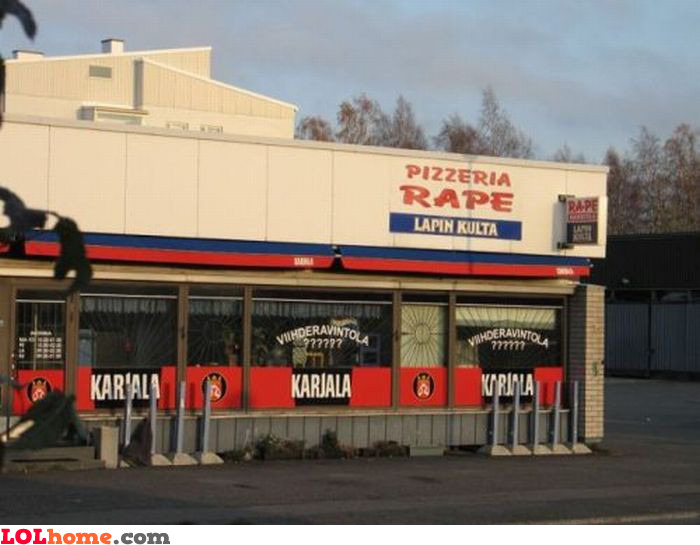 Rape pizza