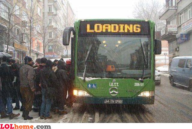 Loading people