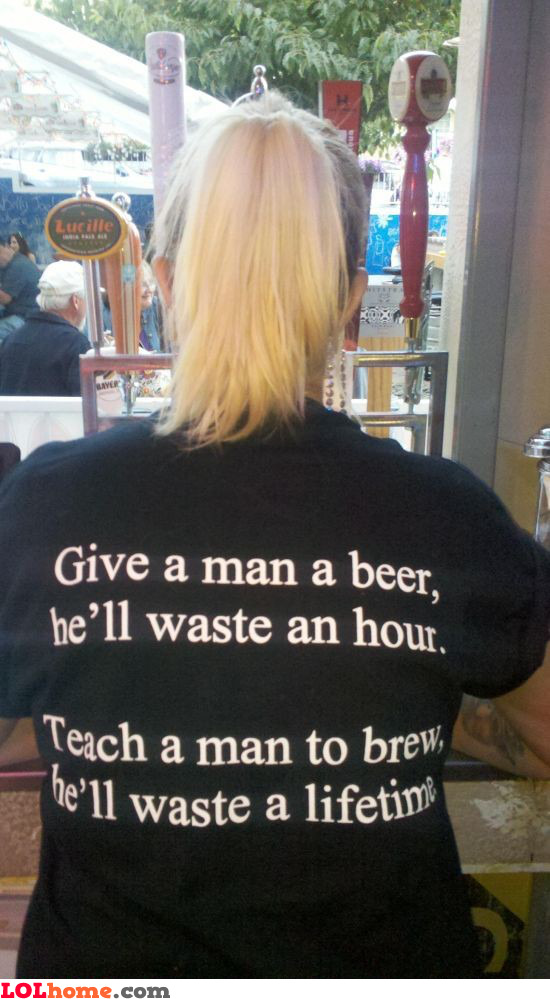 Give a man a beer