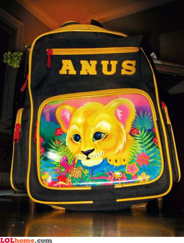 Inappropriate schoolbag