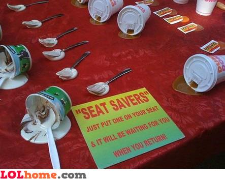 Seat savers