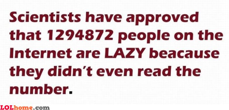 Lazy Internet users