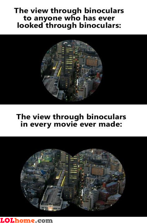 Binoculars in movies