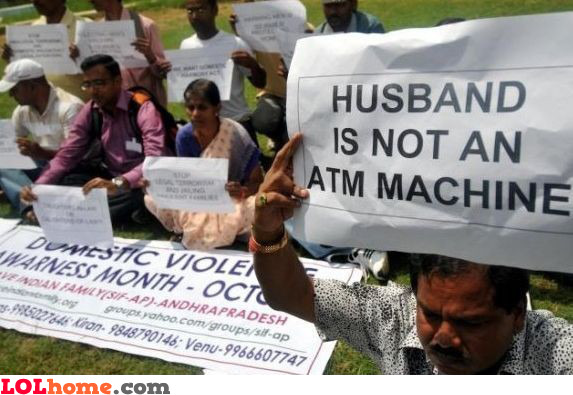 Husband is not an ATM machine