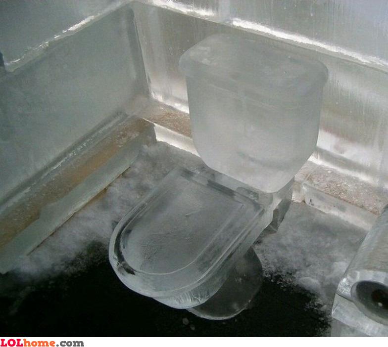 Icy toilet
