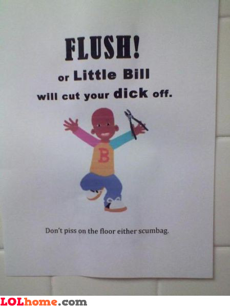 Remember to flush