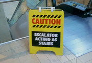 Escalator acting as stairs