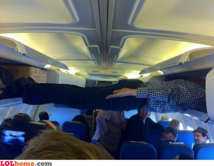 In flight planking