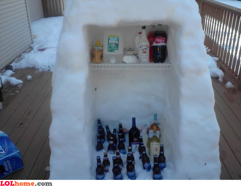 DIY winter fridge