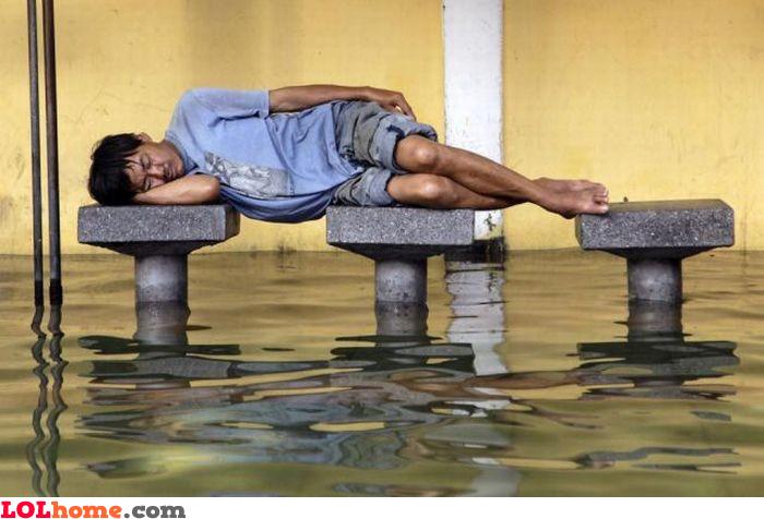 Flood sleeping